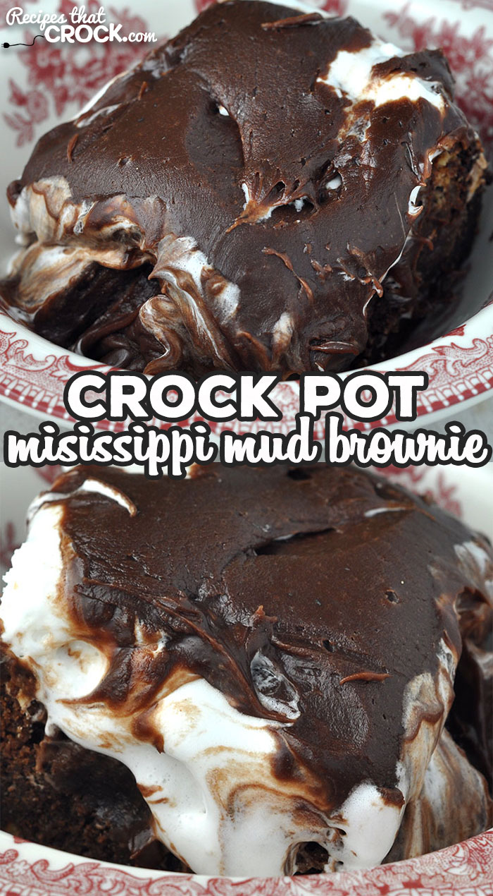 This Crock Pot Mississippi Mud Brownie recipe gives you a decadent, delicious, divine dessert that will satisfy your biggest chocolate craving! via @recipescrock