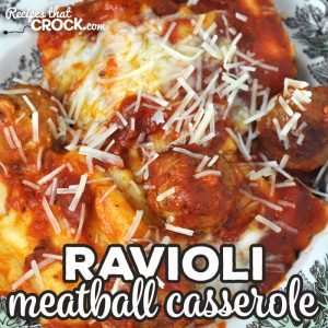 This Ravioli Meatball Casserole recipe for your oven is super easy to throw together and incredibly delicious! It is a great dinner for any day!