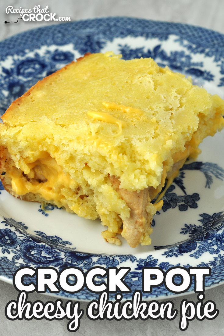 This Cheesy Crock Pot Chicken Pie recipe is easy and delicious! It cooks up quickly and is the perfect comfort food for you and all you love! via @recipescrock
