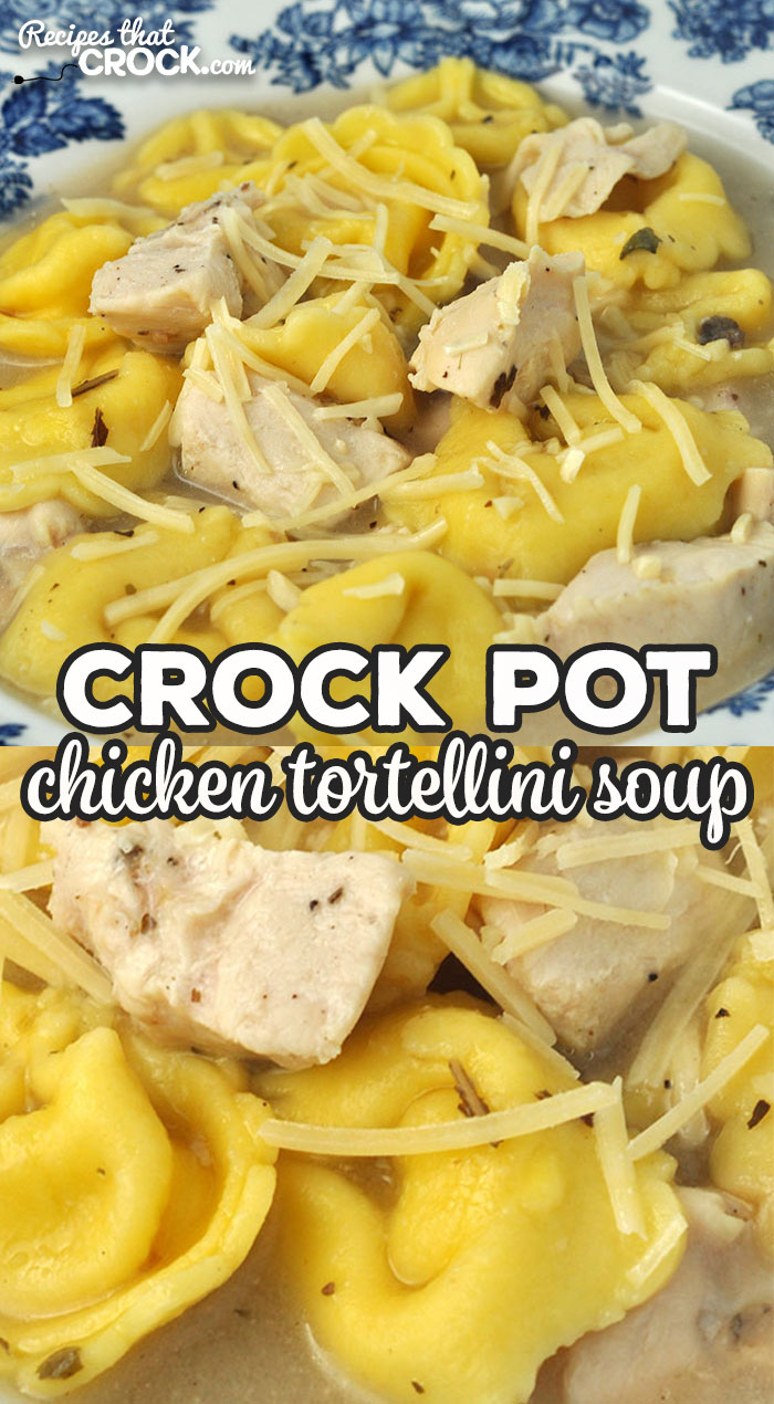 If quick to prepare, easy to make and amazing flavor are things you are looking for in a soup, then you want to try this Crock Pot Chicken Tortellini Soup! via @recipescrock