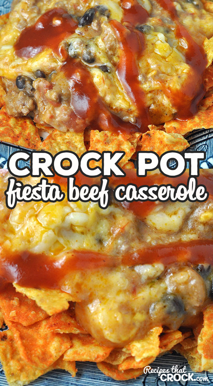 If you are looking for a great week night meal, then you do not want to miss this Fiesta Crock Pot Beef Casserole recipe. It is super yummy too! via @recipescrock