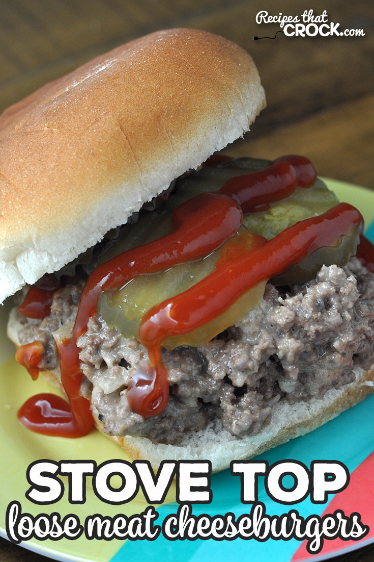 If you are looking for a great recipe that can be ready in less than a half hour, then you do not want to miss this Stove Top Loose Meat Cheeseburgers recipe. Yum! via @recipescrock