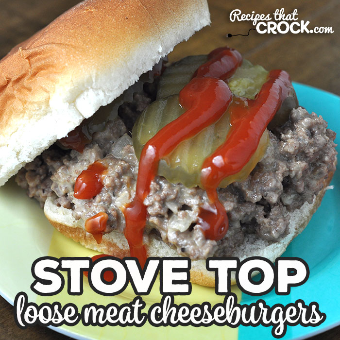 If you are looking for a great recipe that can be ready in less than a half hour, then you do not want to miss this Stove Top Loose Meat Cheeseburgers recipe. Yum!