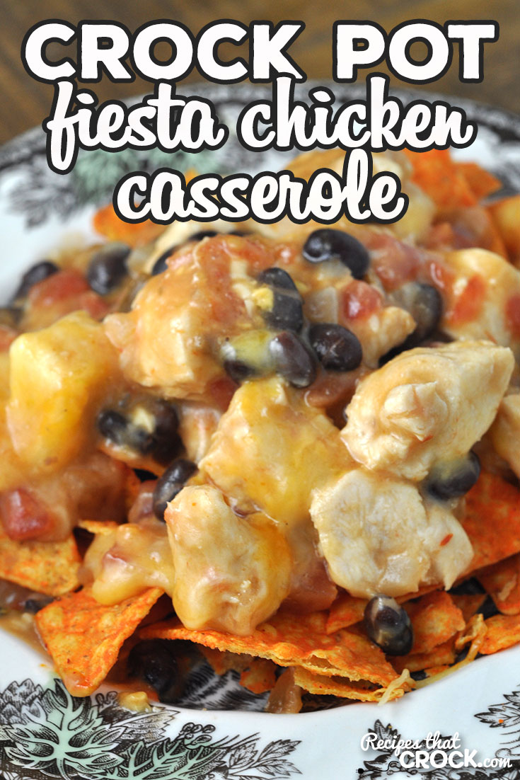 This Crock Pot Fiesta Chicken Casserole recipe was an instant family favorite at my house. I bet it will be for you and yours too! So yummy! via @recipescrock