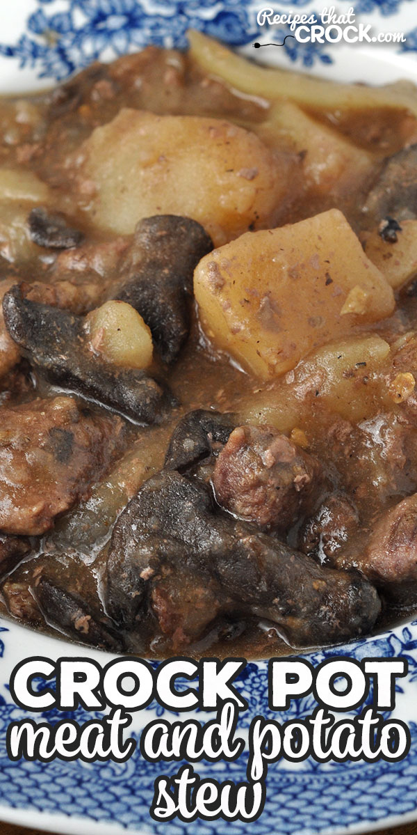 If you are looking for a heart meal to fill you up and delight your taste buds, check out this amazing Crock Pot Meat and Potato Stew recipe! via @recipescrock