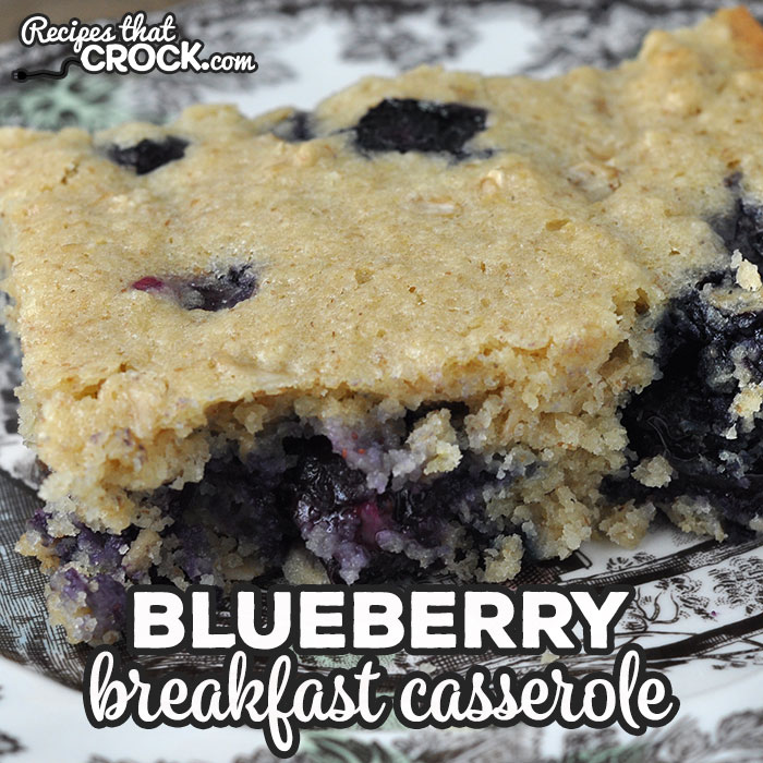 This Blueberry Breakfast Casserole oven recipe is so simple to throw together and delicious! It is a great treat for breakfast or dessert!