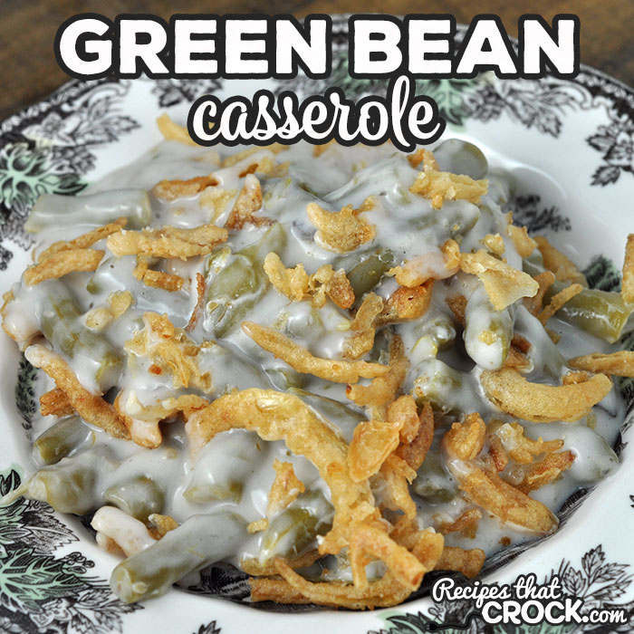 Our Green Bean Casserole oven recipe is adapted from our Crock Pot Green Bean Casserole. You can now use your oven for this reader favorite!