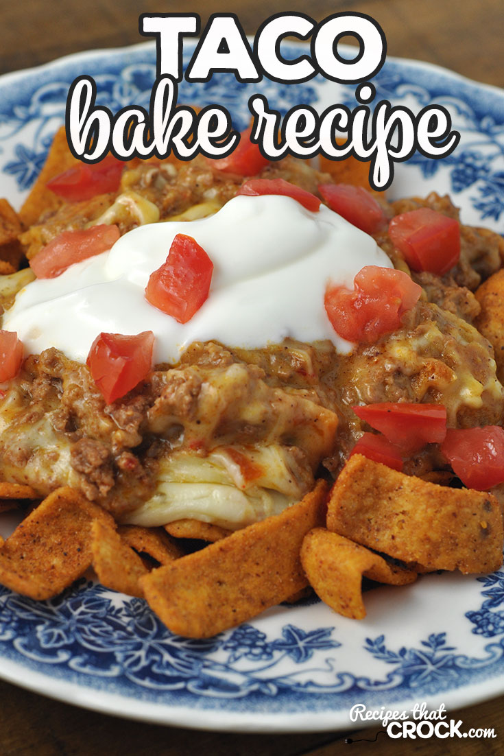 This Taco Bake oven recipe is a delicious tried and true family favorite that your loved ones will be asking for again and again! via @recipescrock