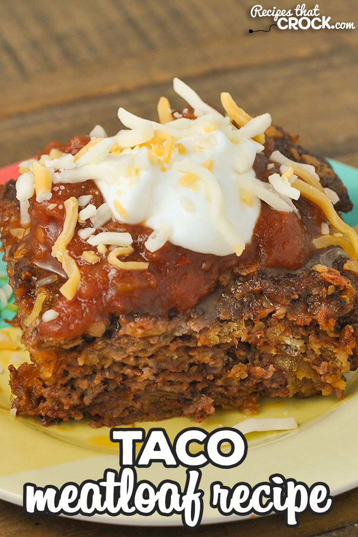 This Taco Meatloaf is the oven recipe for our reader favorite Crock Pot Taco Meatloaf. Same great flavor, just made in the oven instead! via @recipescrock