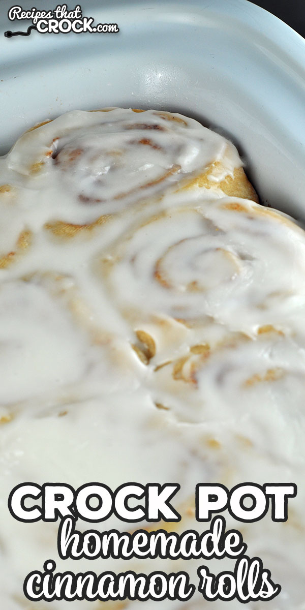 These Homemade Crock Pot Cinnamon Rolls are absolutely delicious and can be made when on vacation or anytime your oven is not available! via @recipescrock
