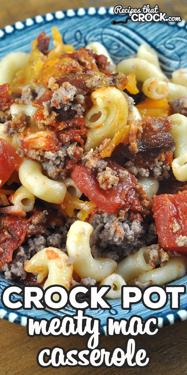 This Crock Pot Meaty Mac Casserole recipe was an instant hit at my house! I bet you and your loved ones will love it as well! Better yet? It is easy to make! via @recipescrock