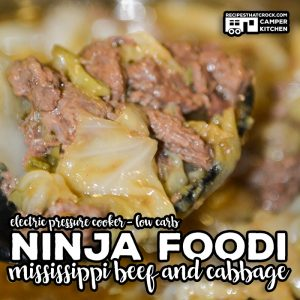 Ninja Foodi Mississippi Beef and Cabbage is a simple electric pressure cooker recipe that takes that Mississippi Beef Roast flavor and turns it into an less expensive one pot meal! Low Carb too!