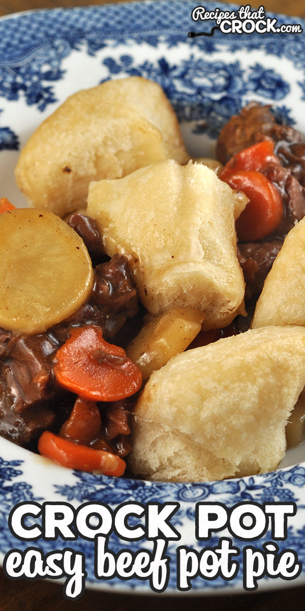 It does not get any easier than this amazing Easy Crock Pot Beef Pot Pie recipe! It is filling, delicious and super simple to throw together! via @recipescrock
