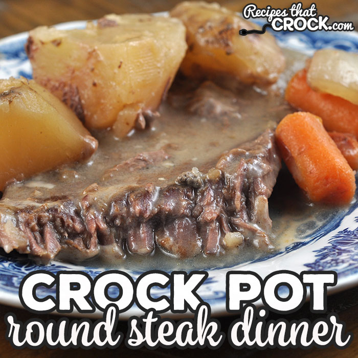 This Crock Pot Round Steak Dinner takes our extremely popular Easy Crock Pot Round Steak recipe and makes it a delicious one pot meal! You are going to love it!