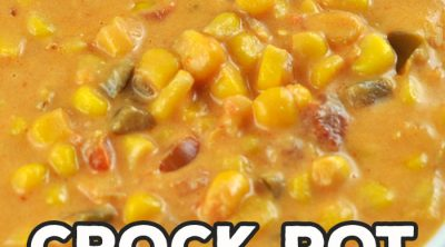 If you want an easy and delicious side dish idea, check out this Crock Pot Cheesy Salsa Corn recipe! So simple to make, and it is tasty as can be!