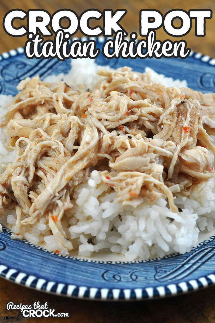 Need a recipe that can literally be put together in two minutes and tastes amazing? Then you want to try this Crock Pot Italian Chicken recipe! via @recipescrock