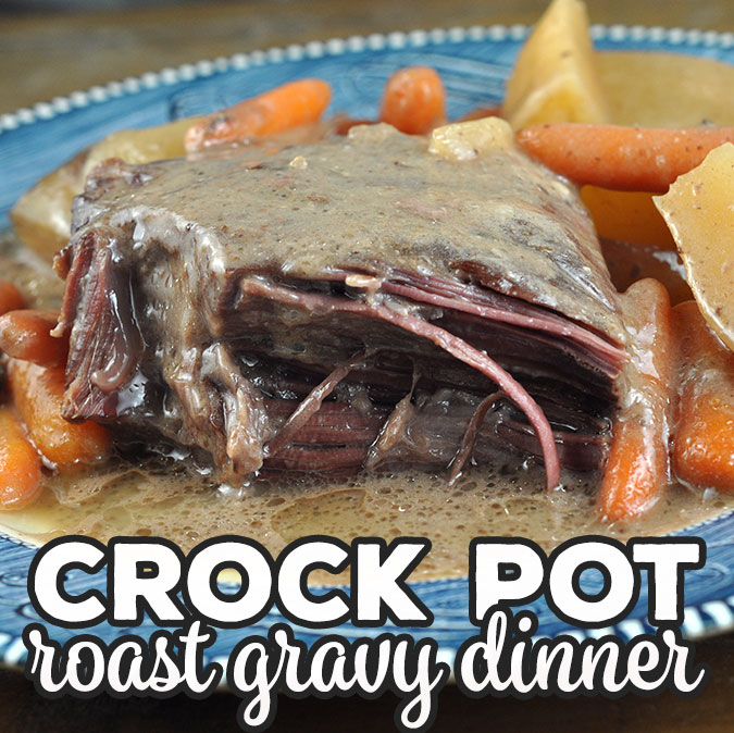 This Crock Pot Roast Gravy Dinner recipe was suggested by one of our readers, Pamela, and I am sure glad she did! It is absolutely delicious!