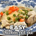This Easy Chicken Pot Pie recipe for your stove top is absolutely delicious and gives you a homemade dinner in about 45 minutes!
