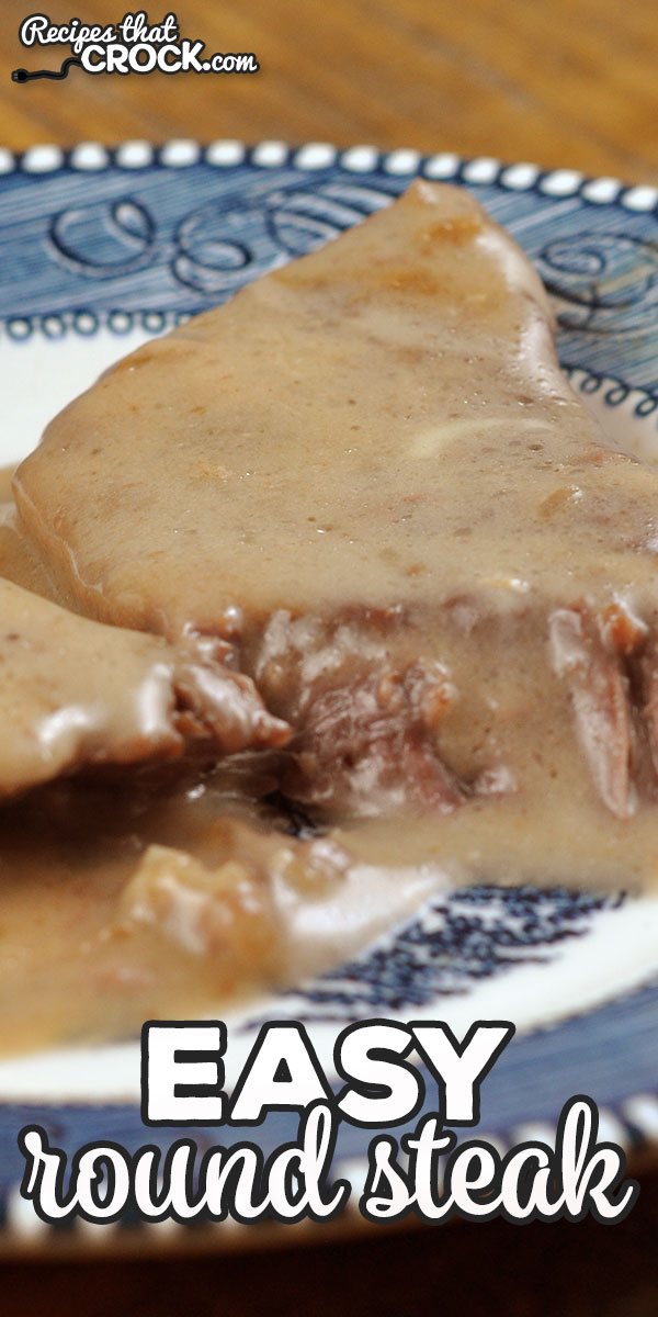 Is your crock pot on the fritz or occupied? No worries! You can use this Easy Round Steak recipe for your oven to make this crowd favorite! via @recipescrock