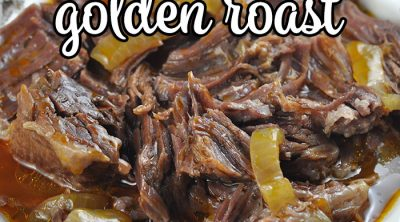 This Golden Instant Pot Roast recipe has the same great taste as our Golden Crock Pot Roast, but can be made in a fraction of the time! We love it!