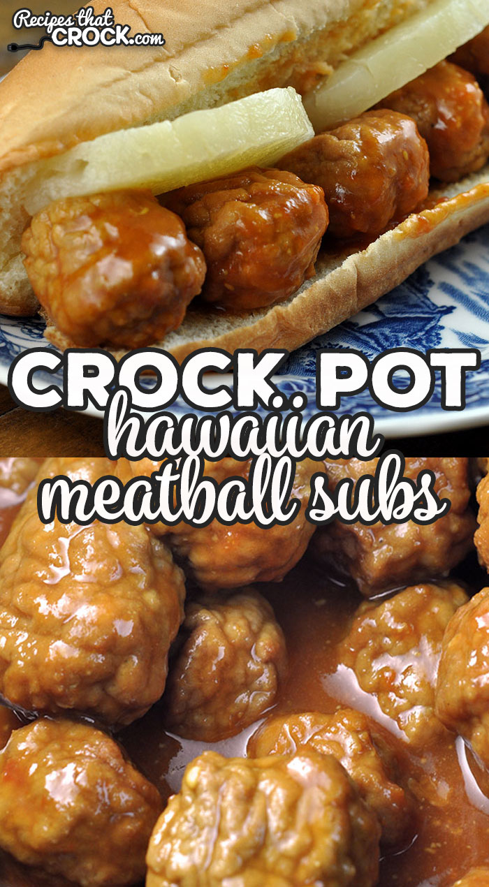 If you love a good sub sandwich, check out this Hawaiian Crock Pot Meatball Subs recipe! They are deliciously tangy, but not overbearing. We love them! via @recipescrock
