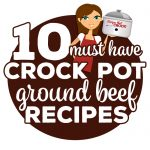 These are our 10 Must Have Crock Pot Ground Beef Recipes. These tried and true recipes are our go-to for an easy dinner every time! We've included our popular Crock Pot Make Ahead Ground Beef recipe to make meal prep even quicker! This collection includes:Crock Pot Make Ahead Ground Beef Crock Pot Cheesy Beefy Mac Casserole Crock Pot Chili Mac Casserole Crock Pot Crustless Pizza Crock Pot Hamburger Casserole Crock Pot Hamburger Soup Crock Pot Mississippi Loose Meat Sandwiches Crock Pot Sloppy Joe Cheeseburgers Crock Pot Unstuffed Cabbage Soup Easy Crock Pot Taco Soup