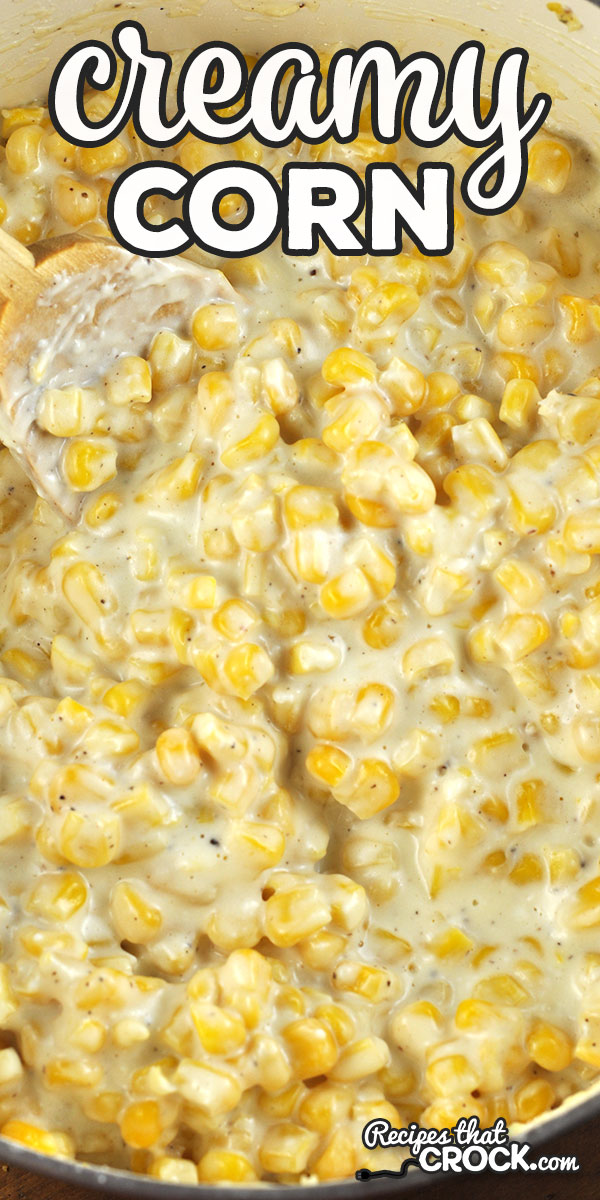 This Creamy Corn recipe is the stove top version of our reader favorite Creamy Crock Pot Corn recipe! You are going to love it! So yummy! via @recipescrock