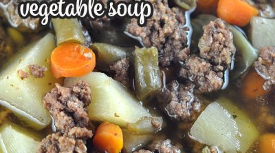 If you want a soup recipe that is packed full of flavor and will fill you up, you will definitely want to try this Crock Pot Mississippi Beefy Vegetable Soup! So yummy!
