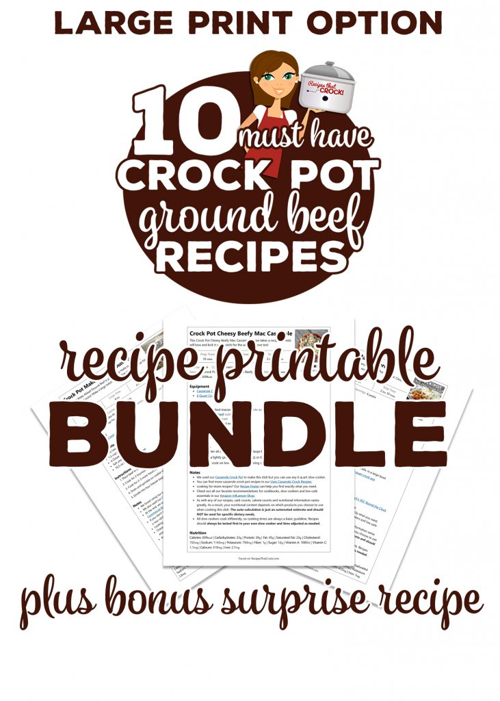 This Recipe Printable Bundle easily prints 10 of our MUST HAVE ground beef recipes (plus a Bonus Recipe for your recipe collection).