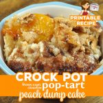 If you are in the mood for a rich dessert and love peaches, you do not want to miss this Crock Pot Brown Sugar Cinnamon Pop Tart Peach Dump Cake!