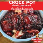 You do not want to miss the latest in our Pop Tart Dump Cake series. This Crock Pot Cherry Pop Tart Chocolate Dump Cake is absolutely delicious!