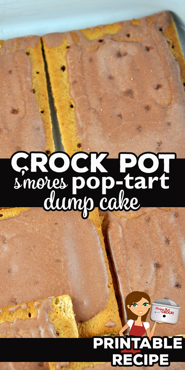 You can have the deliciousness of s'mores any time of year with this super yummy Crock Pot S'mores Pot Tart Dump Cake! It was an instant family favorite! via @recipescrock