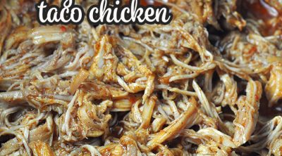 This Easy Crock Pot Shredded Taco Chicken recipe is so simple to make, so versatile and low carb! You can use it for tacos, burritos, nachos…the sky's the limit!
