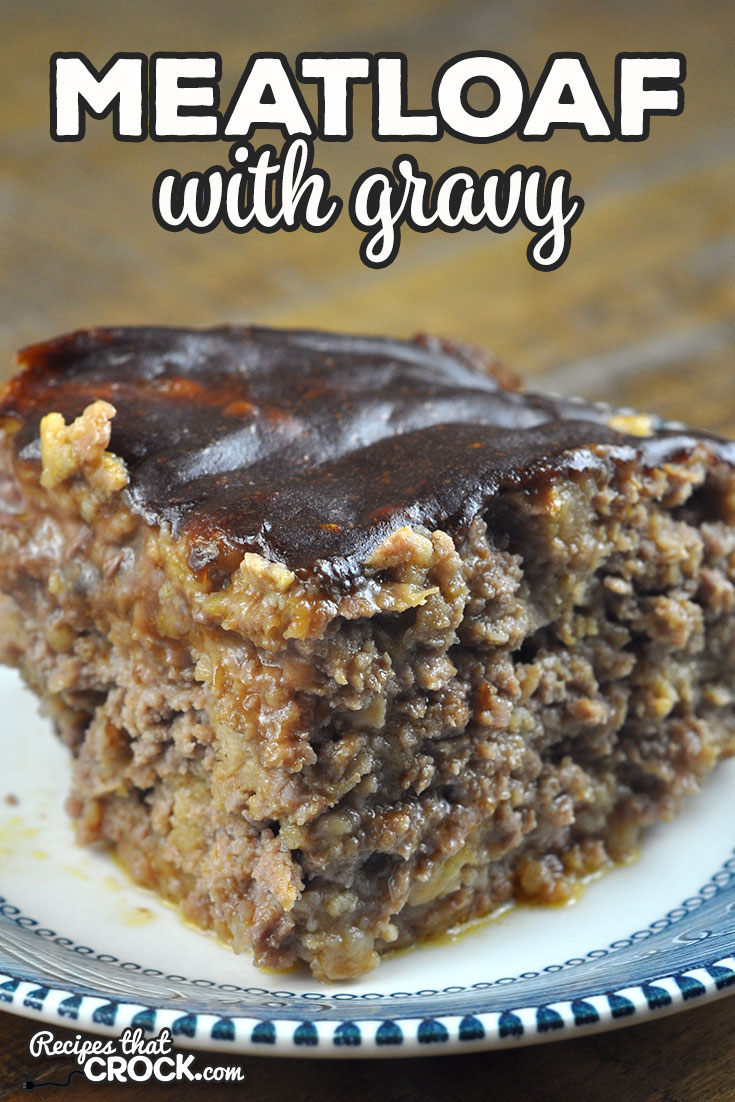 This Meatloaf with Gravy oven recipe takes our popular Crock Pot Meatloaf with Gravy recipe and gives you a second way to cook it! You are going to love it! via @recipescrock