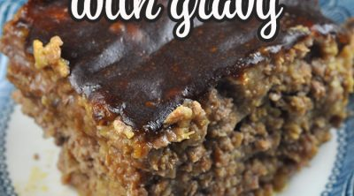 This Meatloaf with Gravy oven recipe takes our popular Crock Pot Meatloaf with Gravy recipe and gives you a second way to cook it! You are going to love it!