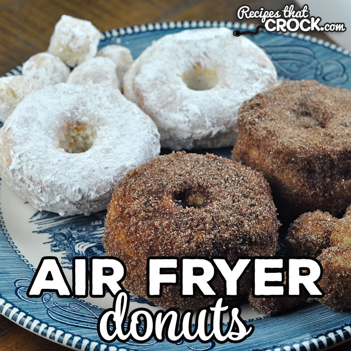 With this Air Fryer Donuts recipe, you can make delicious powdered sugar and cinnamon sugar donut holes and donuts at home! It is super easy to do too!