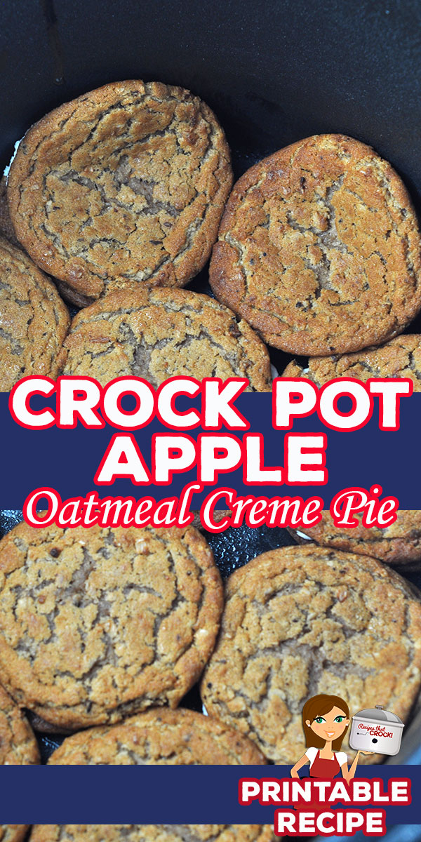 This 3 ingredient dessert is super simple to make and incredibly delicious. If you love apple desserts, check out this Crock Pot Apple Oatmeal Creme Pie! via @recipescrock