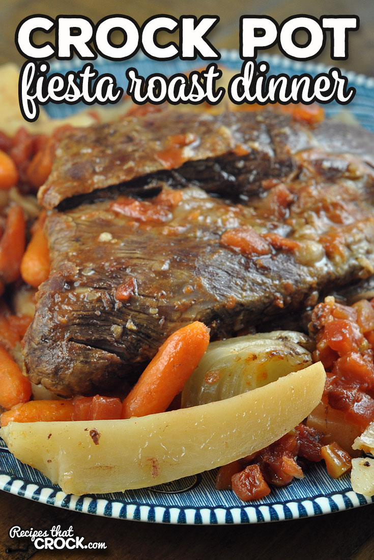If you are looking for a one pot meal that is not the same ol' same ol', you do not want to miss this Crock Pot Fiesta Roast Dinner. It is incredibly delicious! via @recipescrock