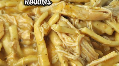 This Good Gravy Crock Pot Chicken Noodles recipe is comfort food at its best! It takes two family favorite recipes to create a new favorite!