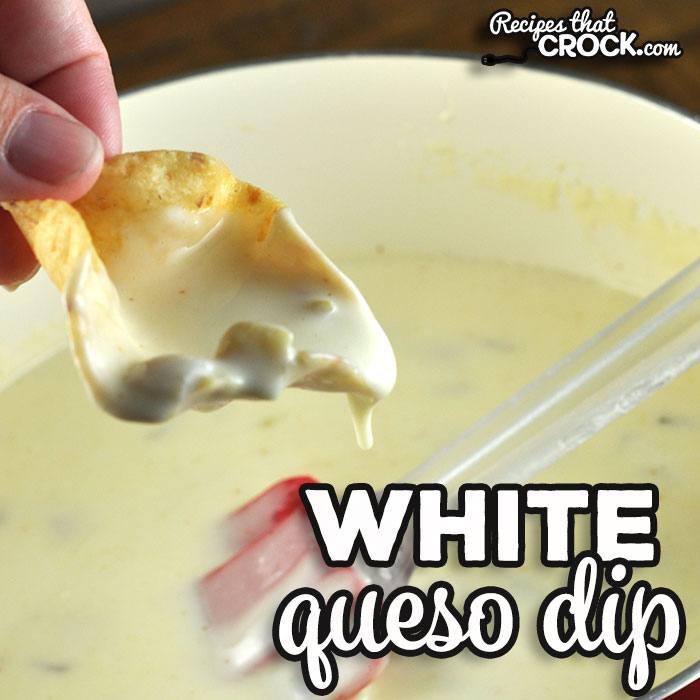 This White Queso Dip recipe is a stove top version of our tried and true crock pot recipe. It has the same amazing flavor you love from our crock pot recipe! So yummy!