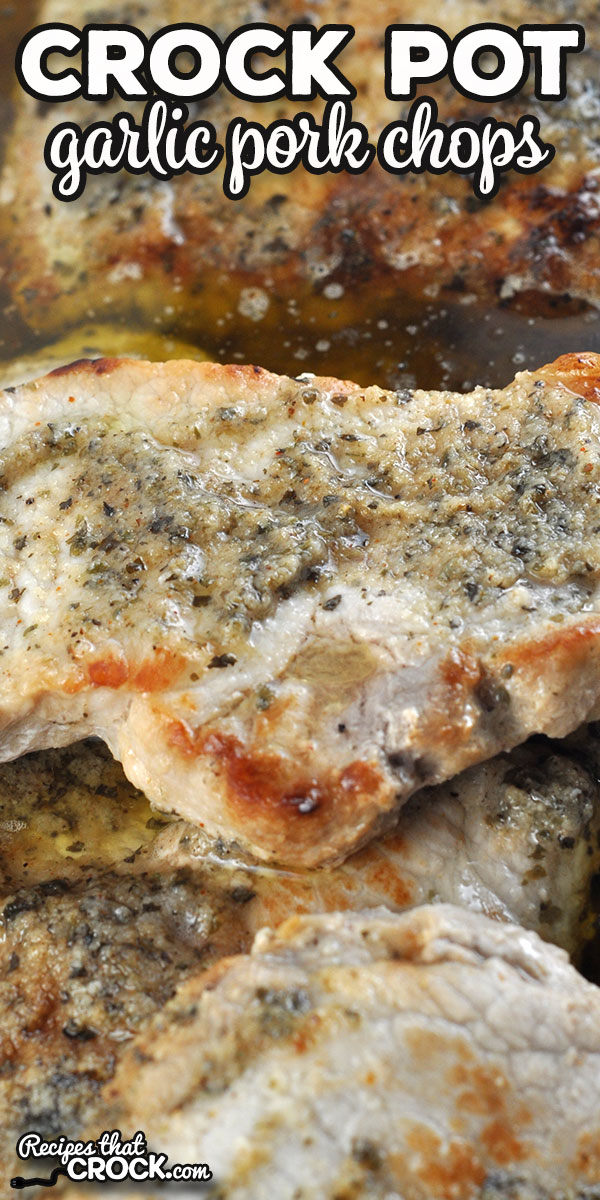 This Crock Pot Garlic Pork Chops recipe is packed full of flavor while still being super easy to throw together. It was an instant hit with my family! via @recipescrock