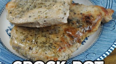 This Crock Pot Garlic Pork Chops recipe is packed full of flavor while still being super easy to throw together. It was an instant hit with my family!