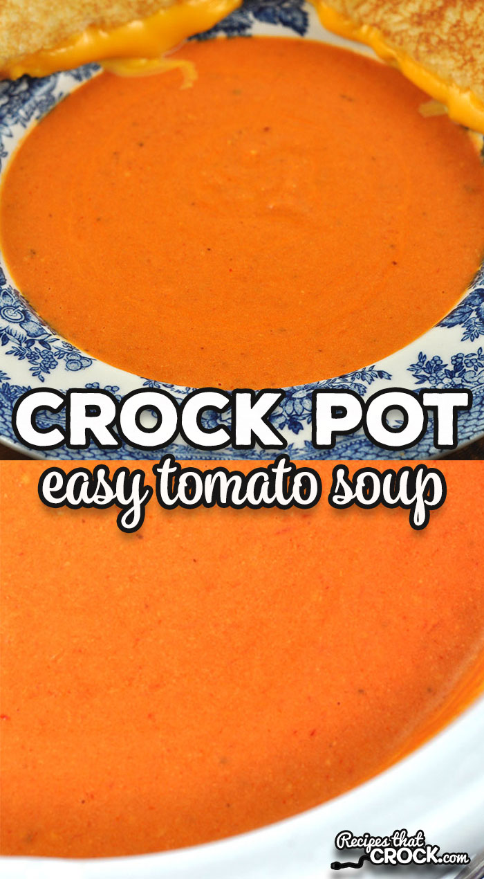 Oh my word folks! I have such a treat for you with this Easy Crock Pot Tomato Soup recipe. It is incredibly quick and easy and full of flavor! via @recipescrock