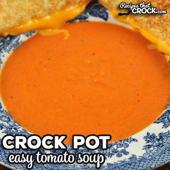 Oh my word folks! I have such a treat for you with this Easy Crock Pot Tomato Soup recipe. It is incredibly quick and easy and full of flavor!