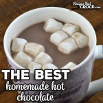 The Best Homemade Hot Chocolate recipe is a stove top version of our amazing Crock Pot Hot Chocolate recipe. Young and old alike love it!
